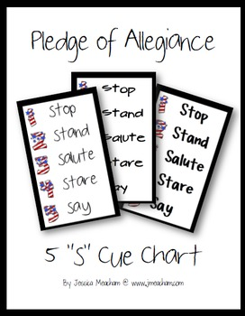 Pledge of Allegiance 5s Cue Chart