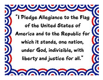 Pledge of Allegiance Poster