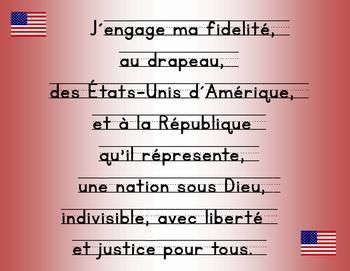 Pledge of Allegiance in French