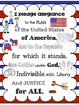 Pledge of Allegiance with Pictures