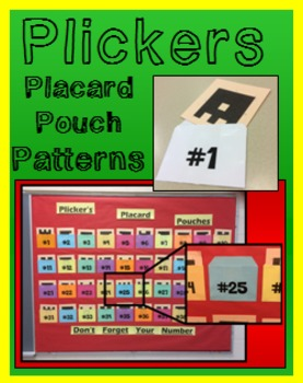 Plickers Placard Pouch Pattern - Makes 40 Pouches to fit S
