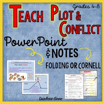 PLOT AND CONFLICT POWERPOINT AND GUIDED NOTES: CORNELL OR