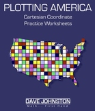 Plotting America:  Coordinate Plane Graphing Activity Sheets
