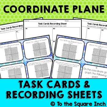 Plotting on a Coordinate Plane (All Quadrants) Task Cards