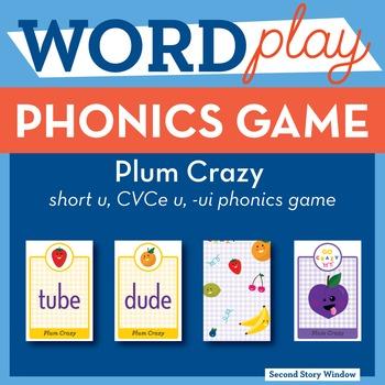Plum Crazy short u, CVCe, ui Phonics Game