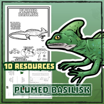 Plumed Basilisk -- 10 Resources -- Coloring Pages, Reading