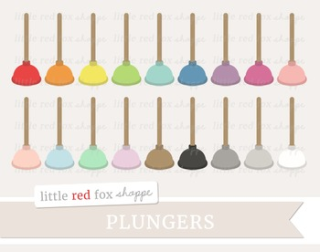 Plunger Clipart; Bathroom