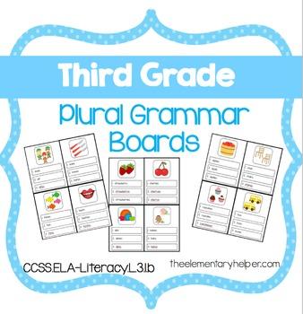 Plural Grammar Board: Third Grade