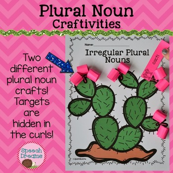 Plural Noun Crafts {Regular and Irregular Noun Activity Ar