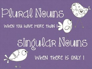 Plural Noun Posters