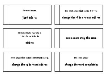Plural Nouns Flip Books for Interactive Notebooks