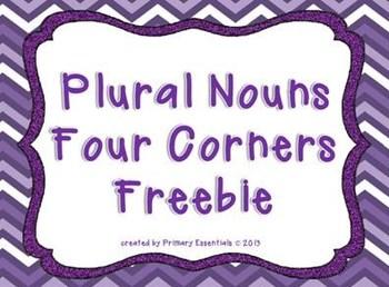 Plural Nouns Four Corners Freebie