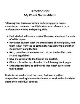 Plural Nouns Rule Booklet