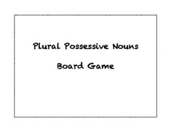 Plural Possessive Nouns Board Game