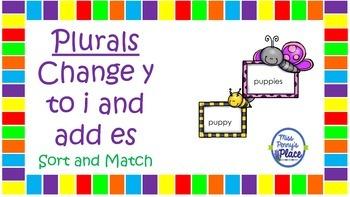 Plurals: Change y to i and add es