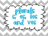 Plurals:  adding s, es, ies, and ves using word sorts, tas