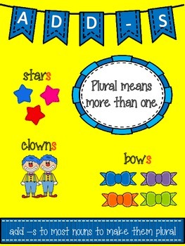 Plurals -s Freebie! Great for Seatwork or Stations