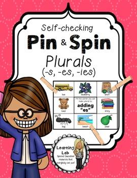 Plurals (s, es, ies) - A Pin & Spin Activity