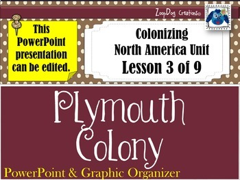 Plymouth Colony PowerPoint and Graphic Organizer