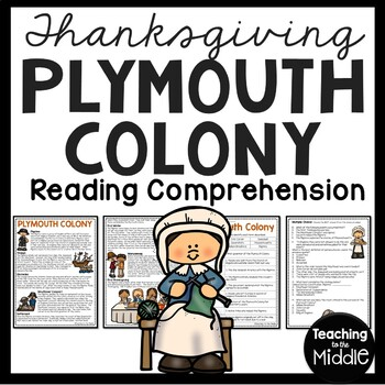 Plymouth Colony Reading Comprehension Worksheet, Squanto,