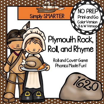 Plymouth Rock, Roll, and Rhyme:  NO PREP Thanksgiving Roll