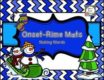 Literacy Center: Onset~Rime Student Mats (Winter Theme)
