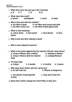 Pobre Ana Chapter 2 Quiz