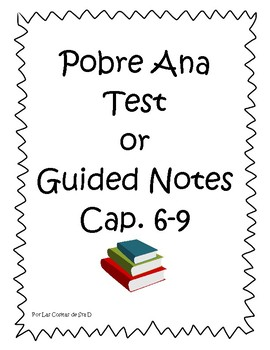 Pobre Ana Chapters 6-9 test or notes