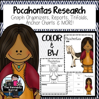 Pocahontas: Biography Research Bundle {Report, Trifold, & MORE!