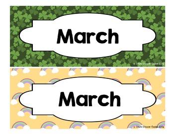 Calendar - Pocket Chart Calendar March