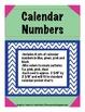 Pocket Chart Calendar Numbers-Chevron