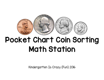 Pocket Chart Coin Sorting Station