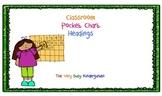 Pocket Chart Headings