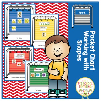 Pocket Chart Shape Cards Activities