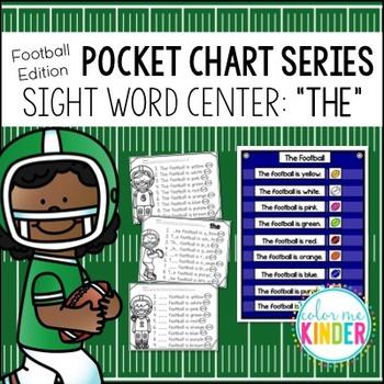 Pocket Chart Sight Word Center Football Edition: The