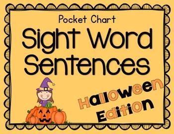 Pocket Chart Sight Word Sentences {Halloween Edition}