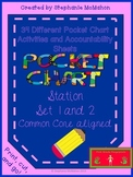 Pocket Chart Station / Center Set 1 and 2- 34 activities (