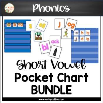 Pocket Chart Word Builders Set:  Short Vowel Bundle