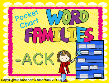 Pocket Chart Word Families (-ACK)