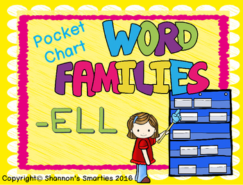 Pocket Chart Word Families (-ELL)