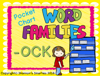 Pocket Chart Word Families (-OCK)