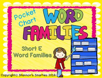 Pocket Chart Word Families (Short E Word Families) BUNDLE