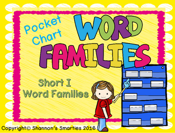 Pocket Chart Word Families (Short I Word Families) BUNDLE