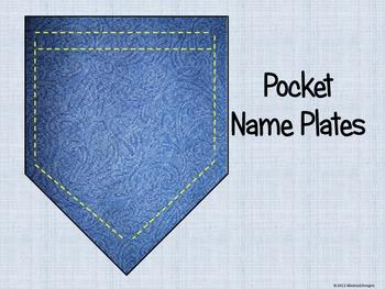 Pocket Name Plates