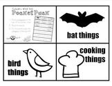 Pocket Pack! Category Word Sort (Bats/Birds/Cooking)