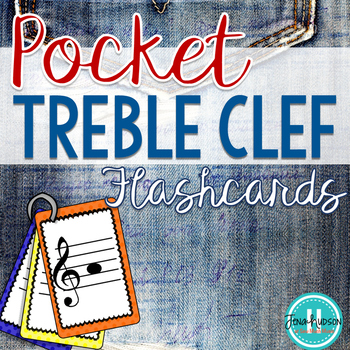 Pocket Treble Clef Flash Cards