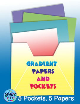 Papers and Pockets ( Gradient Theme) Graphics and Clip Art