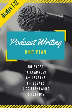 Podcast Writing Unit for Any Technology- Improve Writing A
