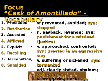 "Poe's ""Cask of Amontillado"" PPT"