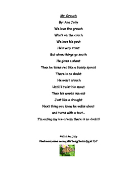 Poem: Mr. Grouch